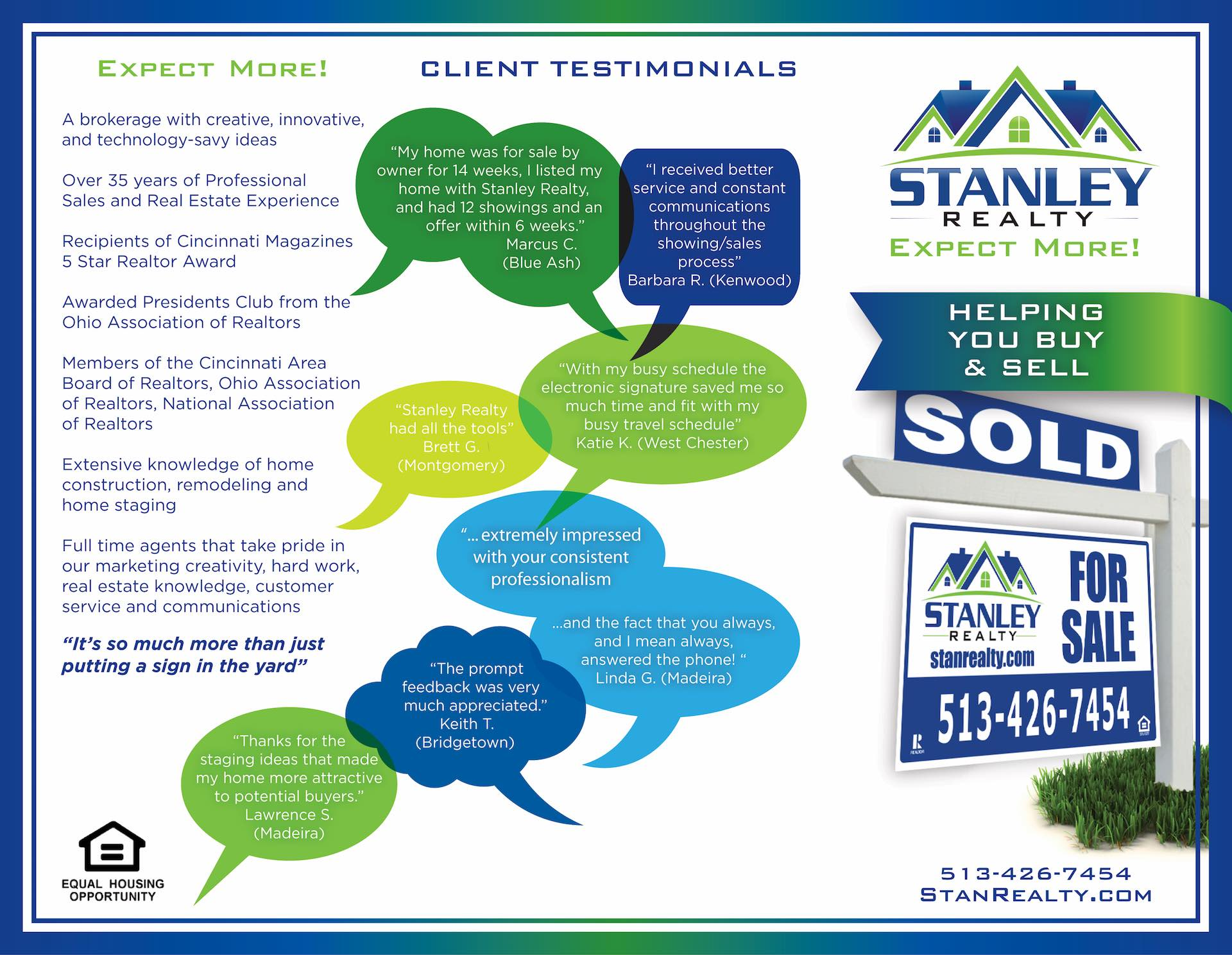 Stanley Realty Testimonials